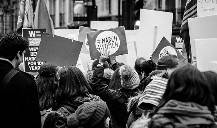 Manifestación de mujeres en Londres