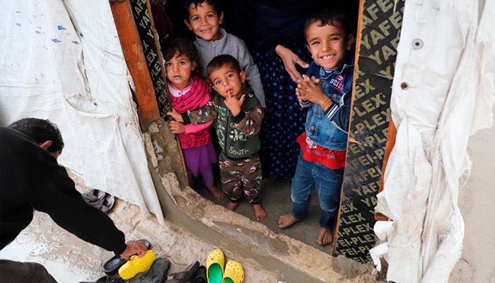 Personas refugiadas en Libano